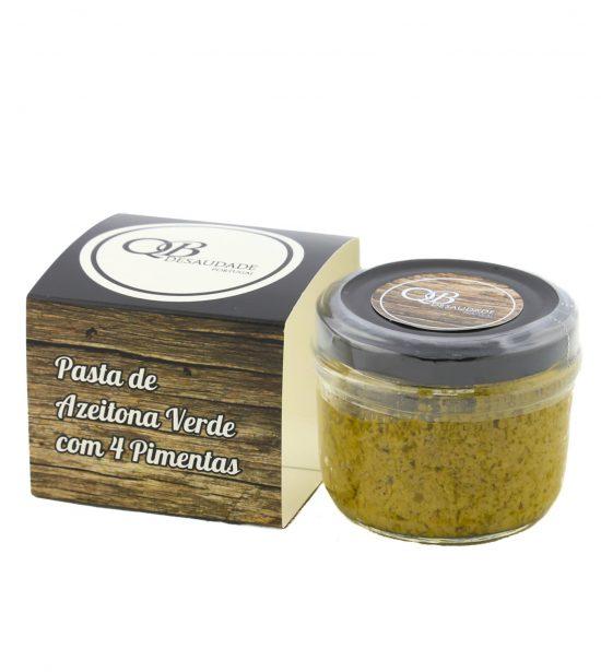 Pasta de Azeitona Verde 4 Pimentas